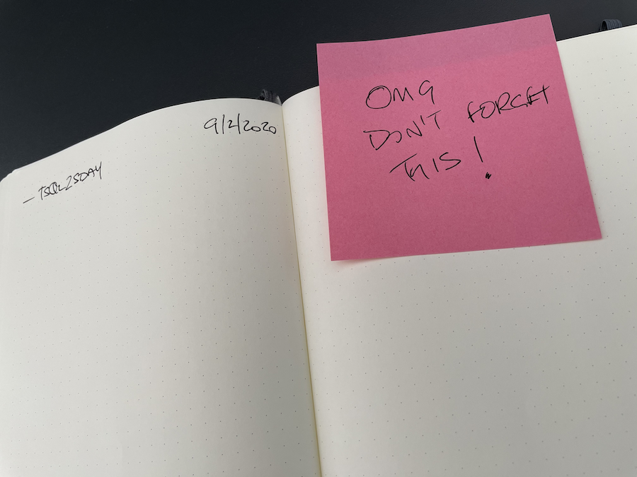 you can use post it note extension